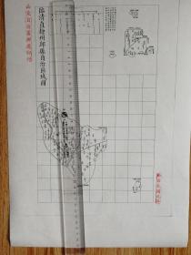 临清直隶州邱县自治区域图【该地最早的按比例尺绘制的地图】