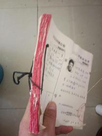 红色文献,1979年辽宁省辽阳市上山下乡知识青年回城通知单,90多张一本 每人一张 张张都有照片,