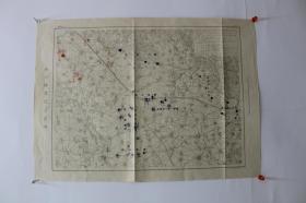 第三军诸队之位置 (3月11日)【单面彩印。日俄战争。侵华史料】