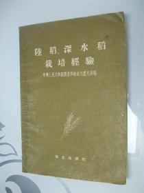 陆稻、深水稻栽培经验