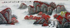 保真*著名山水画家*江风*小六尺山水画精品*6850