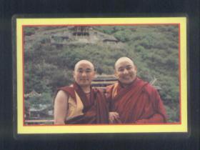 西藏活佛照片(过塑的照片)