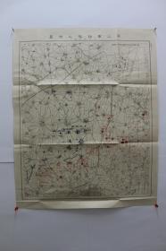 第三军诸队之位置 (3月9日夜)【单面彩印。日俄战争。侵华史料】