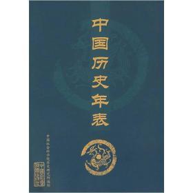 中国历史年表(折页)