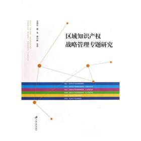 区域知识产权战略管理专题研究