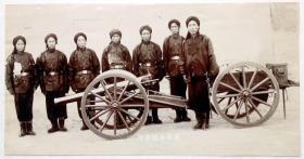 清代北洋陆军炮兵队老照片约1890年珍贵原版蛋白老照片历史影像珍品