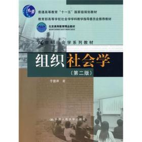 组织社会学(第2版)/教育部高等学校社会学学科教学指导委员会推荐教材·21世纪社会学系列教材