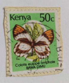 外国邮票(肯尼亚信销票1枚)