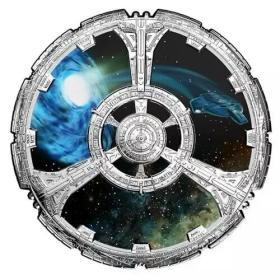 【代购】 加拿大2018年星际迷航深空九号星舰形状双面彩银币