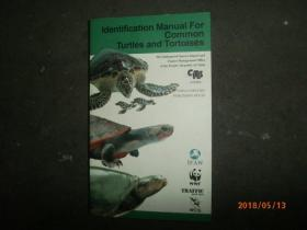 IDENTIFICATION MANUAL FOR COMMON TURTLES AND TORTOISES【常见龟鳖类识别手册,英文版】