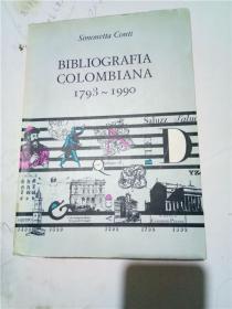 正版现货;bibliografia colombiana   1793-1990