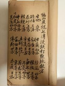 鹤山(现属广东江门管辖)吴焜七传授跌打点脉散方一厚册156面。只售复印件