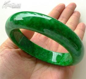 天然缅甸翡翠A货翡翠玉手镯祖母绿铁龙生干青满绿玉镯子