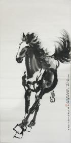 ★【順豐包郵】、【純手繪】【徐悲鴻】中國現代畫家、純手繪四尺整張馬(138*69cm)買家自鑒。