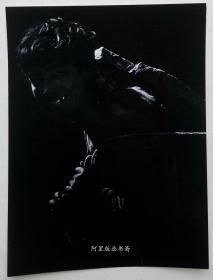《采石工》上世纪90年代初艺术摄影原版胶片老照片詹小明摄