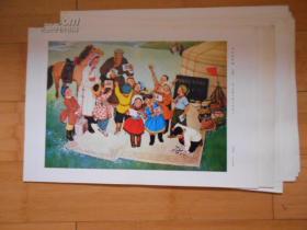 庆祝内蒙古自治区成立三十周年-内蒙古美术作品选集(8开59张活页全)1版1印...8开