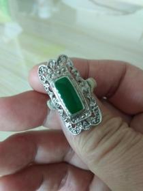 民国老银戒指