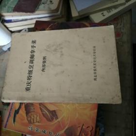 重庆特级烹调师拿手菜  内部资料