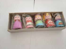 民间彩陶泥人娃娃(5个合售)