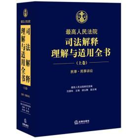 正版新书司法解释理解与适用全书(上卷)