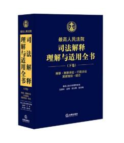正版新书司法解释理解与适用全书(下卷)