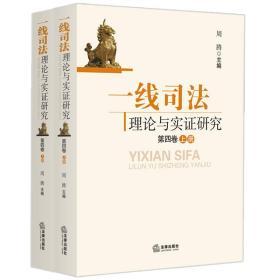 一线司法理论与实证研究(第四卷)(上、下册)