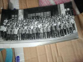 吉林大学 老教授合影  教师很多 就认识校长 唐敖庆 其他不认识  黑白照片 七八十年代照的