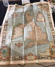 民国26年 大不列颠王国地图 英文原版1937年版