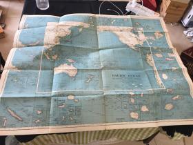 民国25年 太平洋地图(有中国) 英文原版1936年版