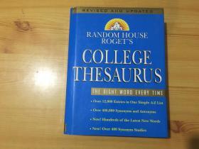 RANDOM HOUSE ROGETS COLLEGE THESAURUS