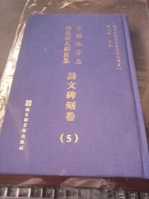 中国地方志 佛道教文献滙纂 诗文碑刻卷 5