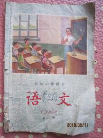 初级小学课本语文第一册;品相仔细看图