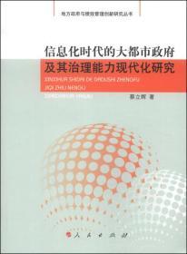地方政府与绩效管理创新研究丛书:信息化时代的大都市政府及其治理能力现代化研究