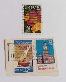 美国邮票(信销票3枚没有重复不是一套票)