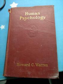 HUMAN PSYCHOLOGY BY  HOWARD C. WARREN