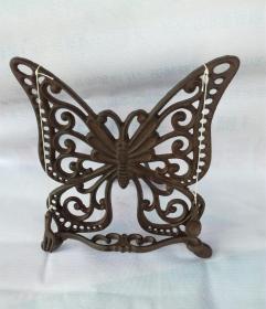 书架托家居装饰,铸铁仿古工艺西洋风格,蝴蝶造型书架托(宽28x高29公分),