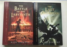 Percy Jackson Book 波西杰克逊 4.5   平装2本合售 5 The Last Olympian  4THE BATTLE OF THE LABYRINTH