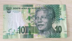 南非10兰特纸币 Ten Rand  South African Reserve Bank Suid-Afrikaanse Reserwebank LIBHANGESILULU LENINGIZIMU AFRIKA Lesetja Kganyago L. Kganyago Governor