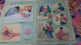 2张医院接生宣传画------50年代