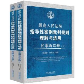 最高人民法院指导性案例裁判规则理解与适用·民事诉讼卷