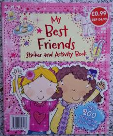 平装本 My Best Friends  (Sticker and  Activity Book)Paperback  我最好的朋友(贴纸和活动书)