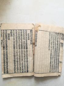 木刻,外科正宗卷一卷二合订一册。