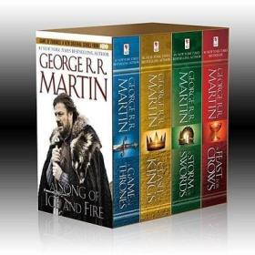 送书签jh-9780345529053-George R. R. Martin's A Game of Thrones 4-Book Boxed Set: A Game of Thrones, A Clash of Kings, A