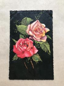 五十年代意大利彩色明信片:花卉图案1张(摄影版),M035