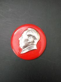 毛主席像章 左侧头像圆形章 中型章 直径约5.2cm 包老包真