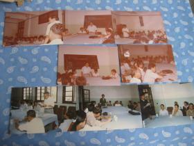 照片 1986年9月1日南京某高校研究生开学典礼照片7张共8枚【其一同底2枚】
