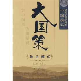 通向大国之路的中国模式:政治模式