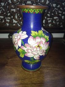 老景泰蓝花瓶