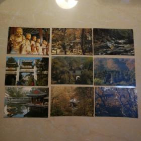 香山明信片(9张全)。