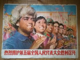 热烈拥护第五届全国人民代表大会胜利召开  一开宣传画